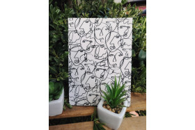 Faces Pattern Large Notebook